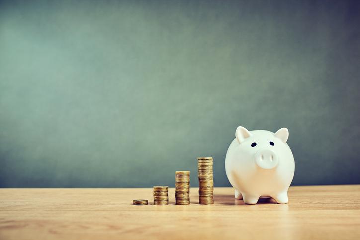 Cerdo hucha monedas